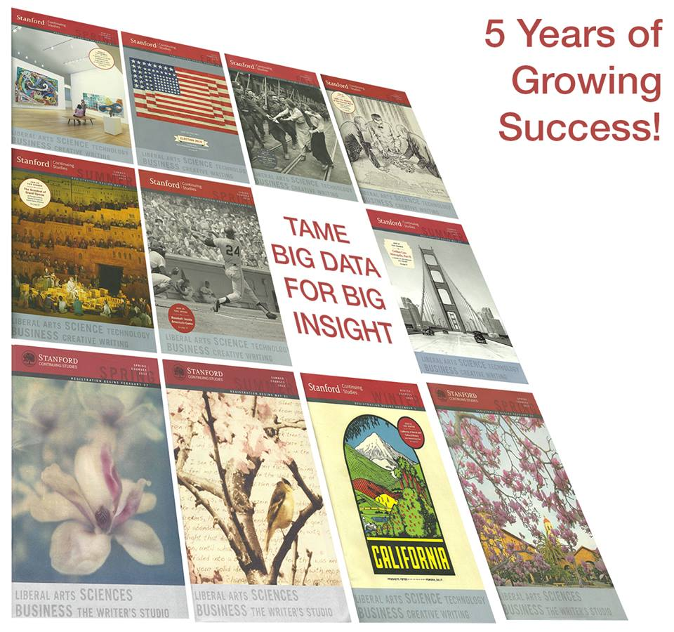 Let's celebrate 5 years of the Stanford Continuing Studies Data Class!